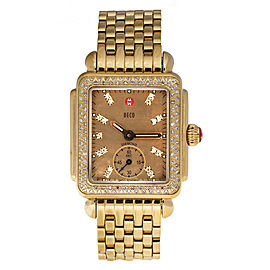 Michele Deco Mini Diamonds Womens Quartz Watch 31 mm