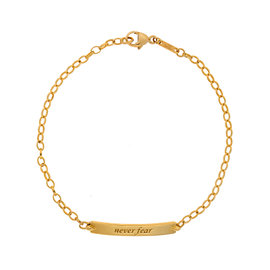 Monica Rich Kosann 18K Yellow Gold Snake Never Fear Petite Poesy Bracelet