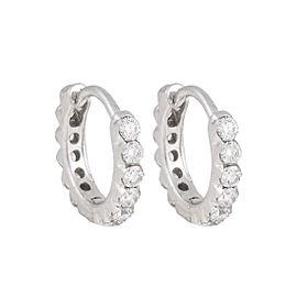 "Maria Tash 18K White Gold 0.25"" Invisible Set 0.30ct. Diamond Eternity Earrings"