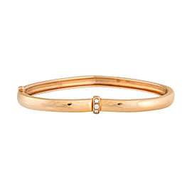 Piaget 18K Rose Gold Diamond Heart Bangle