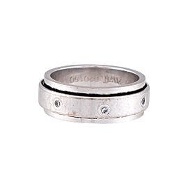 Piaget 18K White Gold 0.14ctw Diamond Ring Size 7.25