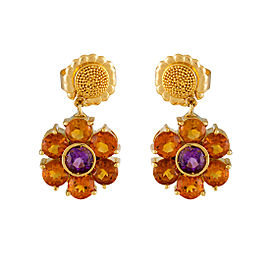 Pasquale Bruni 18k Yellow Gold Flower Cluster Drop Earrings