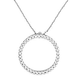 Roberto Coin 18k White Gold Diamond Circle Pendant