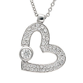 Roberto Coin 18K White Gold 0.48ct. Diamond Heart Necklace