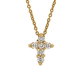 Roberto Coin 18K Yellow Gold Tiny Treasures Baby Cross Diamond Pendant Necklace