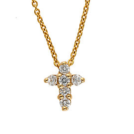 Roberto Coin 18K Yellow Gold 0.11ctw Diamond Baby Cross Necklace