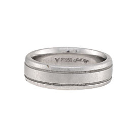 Scott Kay Platinum MIllgrain Wedding Band Size 8.5