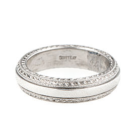 Scott Kay PT900 Platinum Wedding Band Ring 9.5
