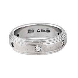 Scott Kay 19K White Gold with 0.15ct Diamond Wedding Band Ring 7