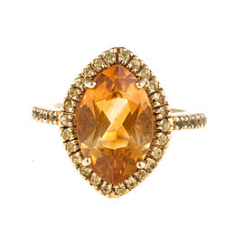 Sonia B 14K Yellow Gold Citrine and Yellow Sapphire Ring Size 6