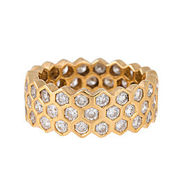 Sonia B. 18K Yellow Gold Honeycomb 3.6ct Diamond Ring Size 9.25
