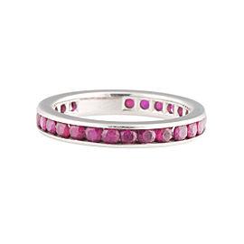 Tiffany & Co. Platinum Ruby Eternity Band Ring Size 6