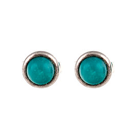 Tiffany & Co. Elsa Peretti Sterling Silver Turquoise Stud Earrings