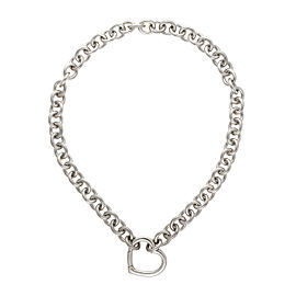 Tiffany & Co. 925 Sterling Silver Heart Lock Necklace