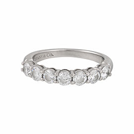 Tiffany & Co. PT950 Platinum with 0.95ct Diamond Band Ring Size 6