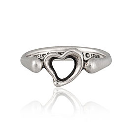 Tiffany & Co. Sterling Silver Open Heart Ring Size 6.25