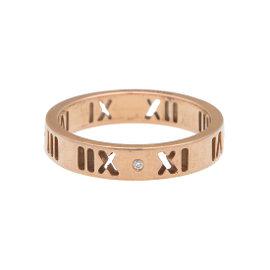 Tiffany & Co. 18K Rose Gold Atlas Ring Size 4.75