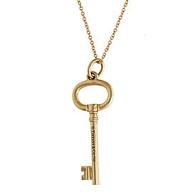 Tiffany & Co. 18K Yellow Gold Key Necklace