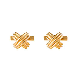 Tiffany & Co. 18K Yellow Gold X Cufflinks