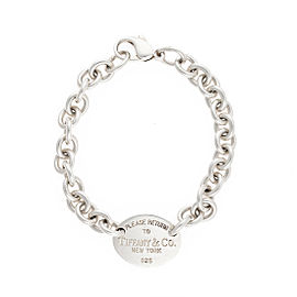 Tiffany & Co. 925 Sterling Silver Return To Tiffany Oval Tag Bracelet