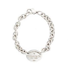 Tiffany & Co. 925 Sterling Silver Return To Tiffany Oval Tag Bracelet