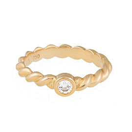 Tiffany & Co. 18K Yellow Gold Twist 0.10ct. Diamond Ring Size 6