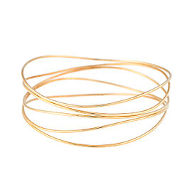 Tiffany & Co. Elsa Peretti 18K Yellow Gold Wave Bangle Bracelet