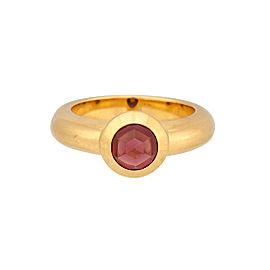Tiffany & Co. 18K Yellow Garnet Ring Size 4.25