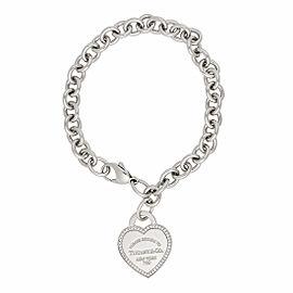 Tiffany & Co. 18K White Gold Return To Tiffany 0.26ctw Diamond Heart Tag Bracelet