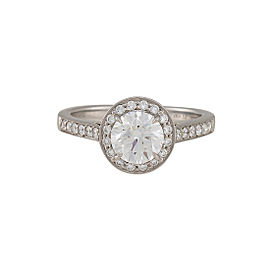 Tiffany & Co. Platinum 1.16ctw Diamond Ring Size 5