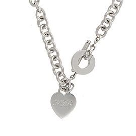 Tiffany & Co. Sterling Silver Heart Tag Toggle Necklace