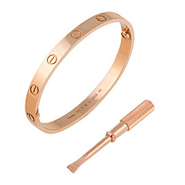 Cartier Rose Gold Love Bracelet Size 17