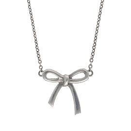 Tiffany & Co. Bow Pendant Sterling Silver Necklace