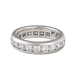 Tiffany & Co. PT950 Platinum with 3.0ct Diamond Eternity Band Ring Size 5