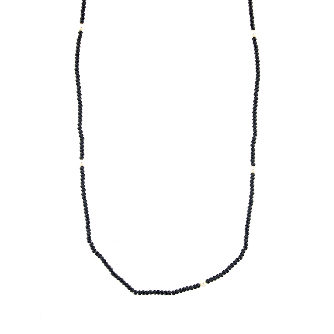 41192b9a747ca Tiffany & Co. ZIEGFELD Black Spinel and Pearl Necklace