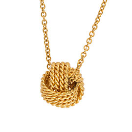 Tiffany & Co. 18K Yellow Gold Twist Knot Pendant Necklace