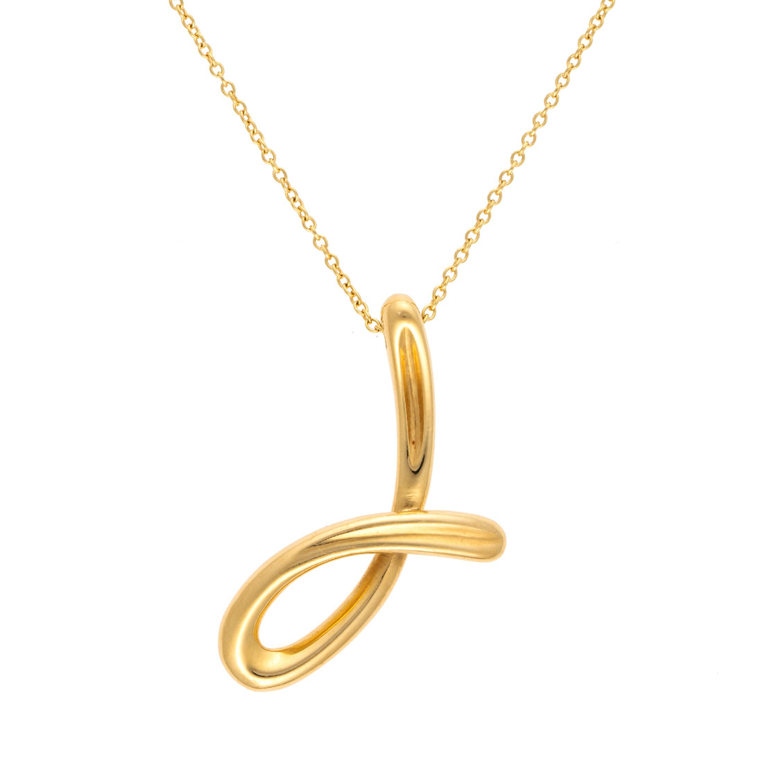 241193282da24 Tiffany & Co. 18K Yellow Gold Elsa Peretti J Necklace
