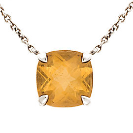 Tiffany & Co. Sparklers Citrine Sterling Silver Pendant Necklace