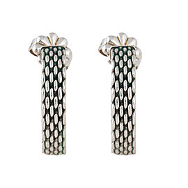 Tiffany & Co. Sterling Silver Somerset Huggie Earrings
