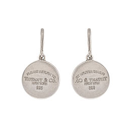 Tiffany & Co. 925 Sterling Silver Return To Tiffany Drop Earrings