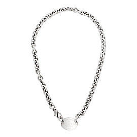 Tiffany & Co. Sterling Silver Return to Tiffany Oval Charm Necklace
