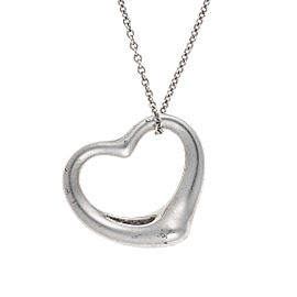 Tiffany & Co. Open Heart Pendant Sterling Silver Necklace