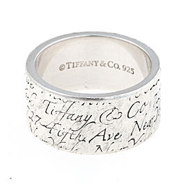 Tiffany & Co. Sterling Silver Notes Ring Size 7.5
