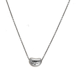 Tiffany & Co. 925 Sterling Silver Bean Pendant Necklace