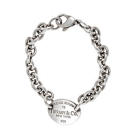 Tiffany & Co. Sterling Silver Return to Tiffany Tag Link Bracelet