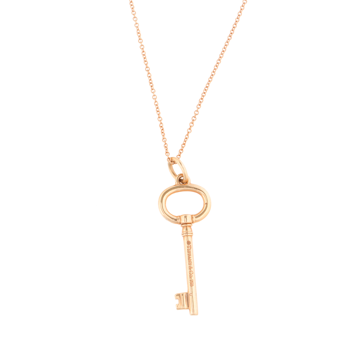 Tiffany Co 18k Rose Gold Key Necklace Tiffany Co Buy At Truefacet