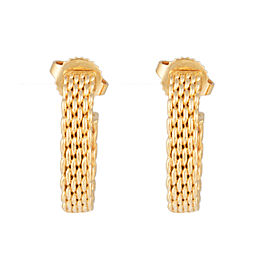 Tiffany & Co. 18K Yellow Gold Mesh Earrings
