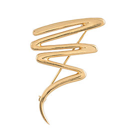 Tiffany & Co. Paloma Picasso 18K Yellow Gold Zig Zag Pin