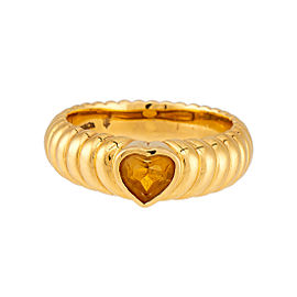 Tiffany & Co. 18K Yellow Gold Citrine Heart Ring Size 6.5