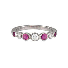 Tiffany & Co. Platinum Pink Sapphire 0.30ctw Diamond Ring Size 5.5